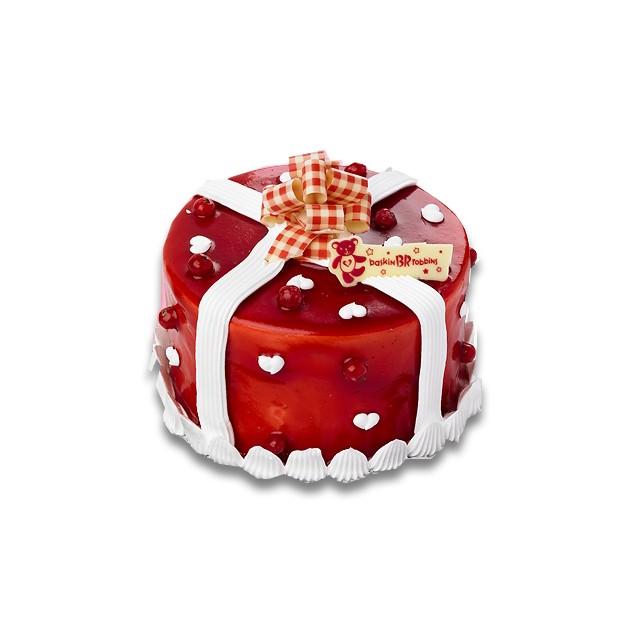 Cherry Ice Cream Cake