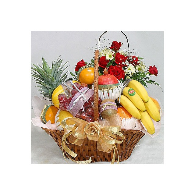Fruits and Roses Basket