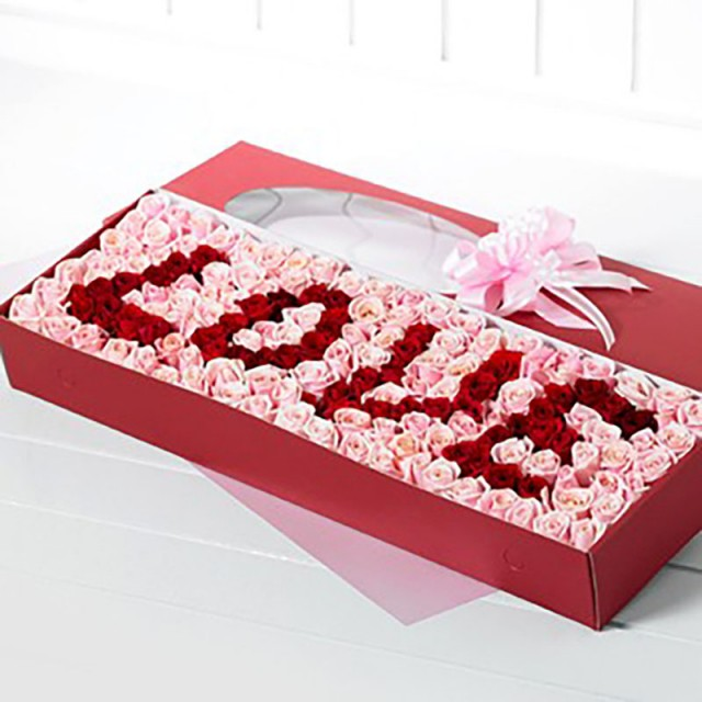 100 Rose with Love Message