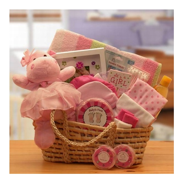 New Baby Girl Basket