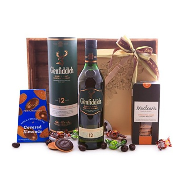 Glenfiddich Whiskey and Chocolate Basket