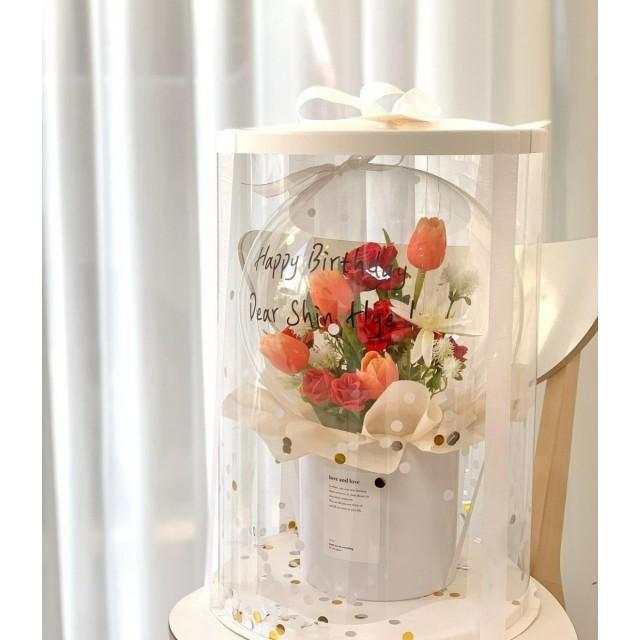 Flowers in ballon