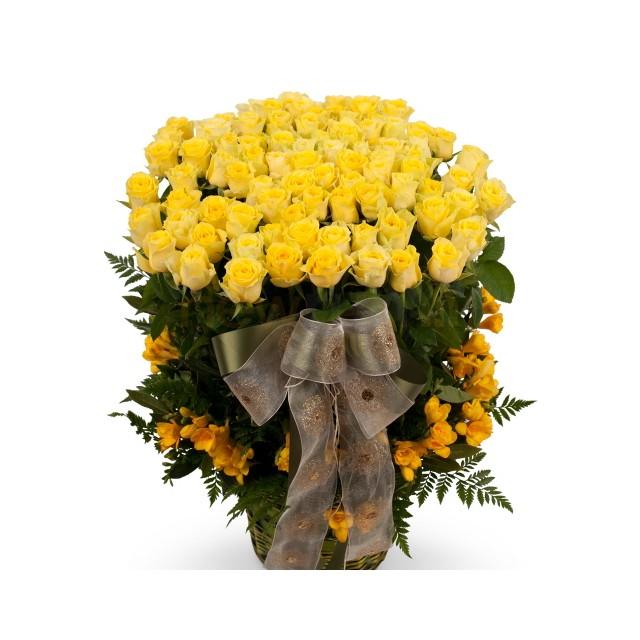 100 Yellow Roses