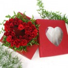 24 Heart Roses in Gift Box
