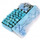 Blue Roses in Gift Box