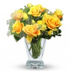 Yellow Roses and Spray Roses