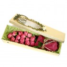 Pink Roses in Gift Box